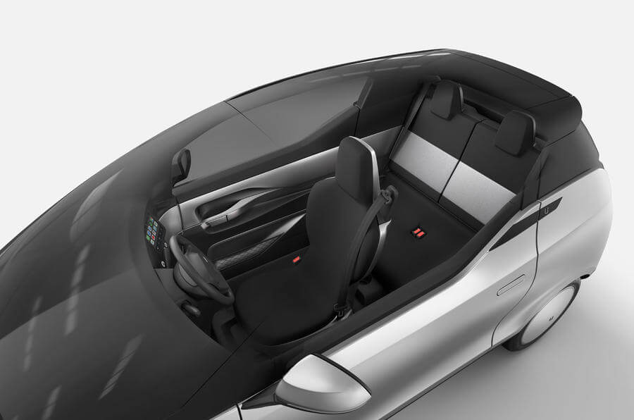 uniti one ev interior drivers seat