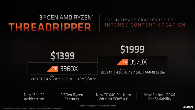 amd 3rd gen ryzen threadripper