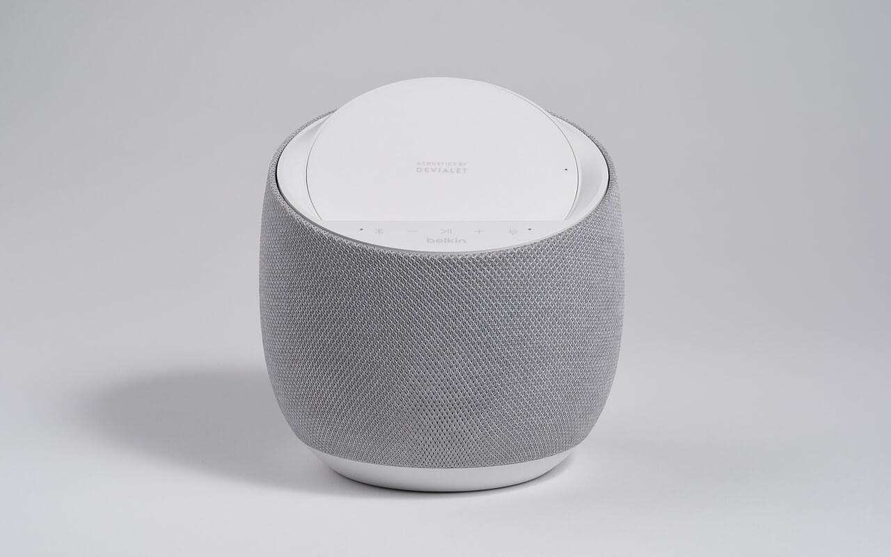 Belkin Soundform Elite Devialet Smart Speaker with wireless charger