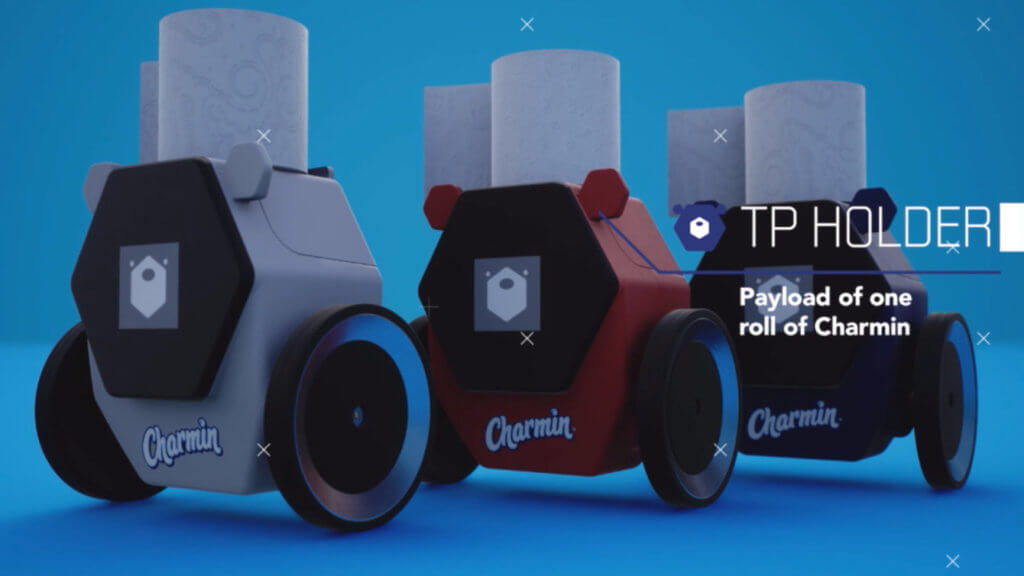 charmin rollbot ces 2020 toilet paper robot
