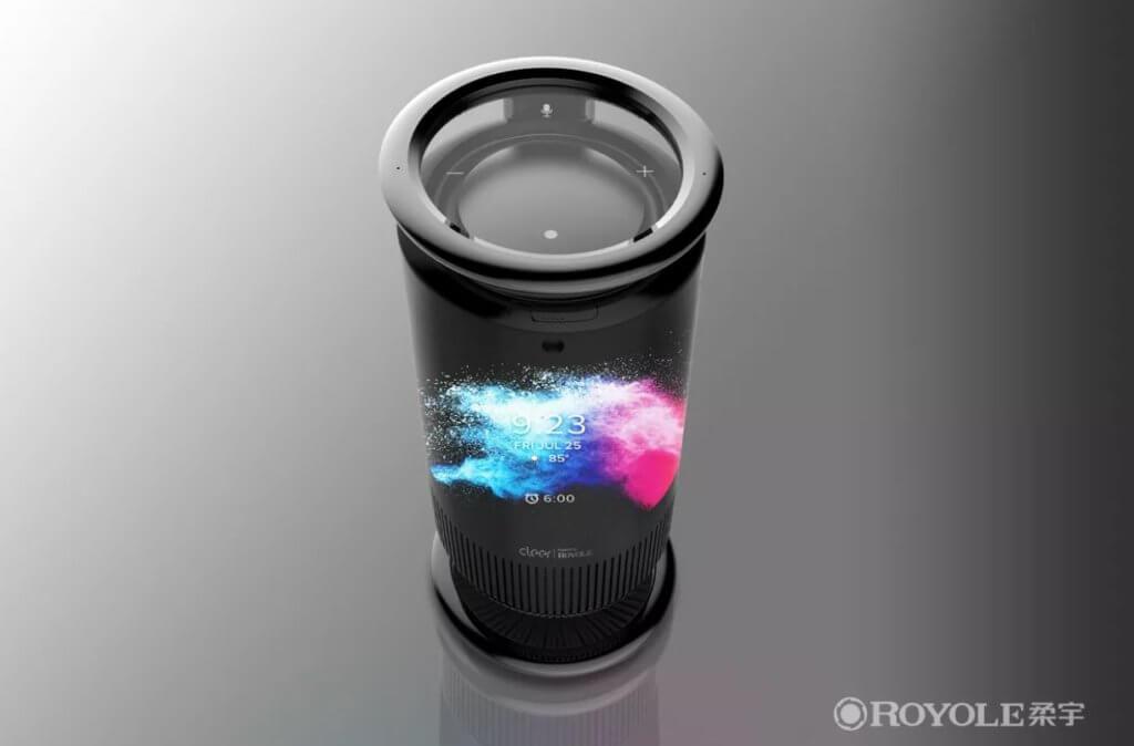 royole mirage smart speaker wraparound display ces 2020 2