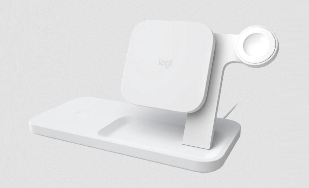 logitech wireless apple watch charger 3 in 1 dock qi wireless