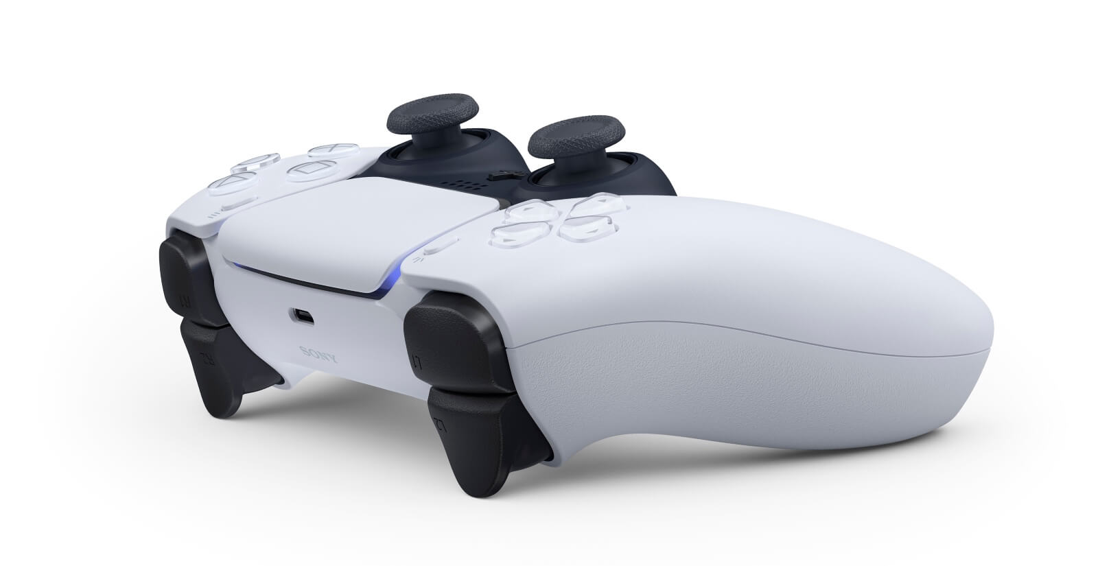 PS5 DualSense controller adaptive triggers with haptic feedback