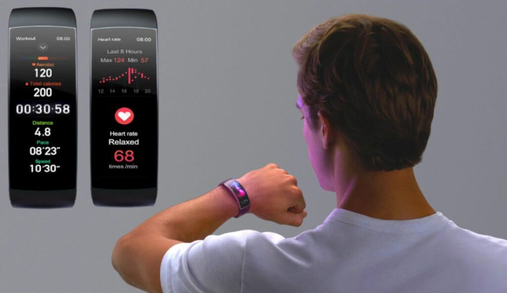 amazfit x ecg heart rated curved display smart band