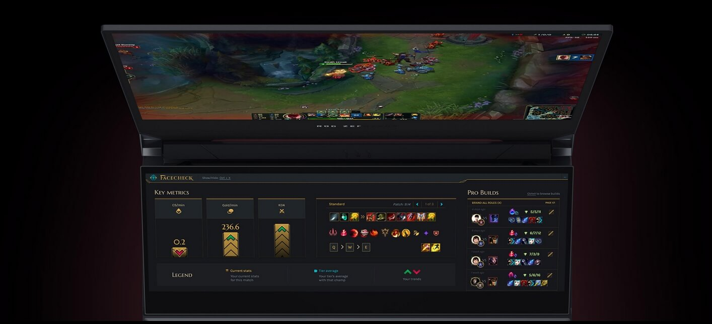 asus rog zephyrus 15 duo league of legends