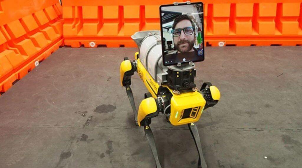boston dynamics spot robotic dog covid 19 telemedicine 2