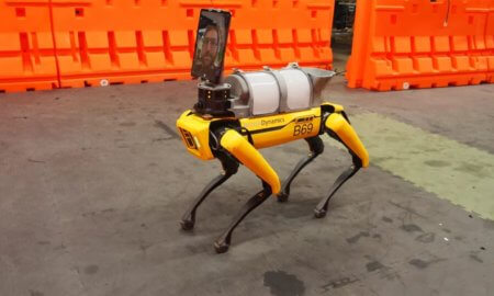 boston dynamics spot robotic dog covid 19 telemedicine