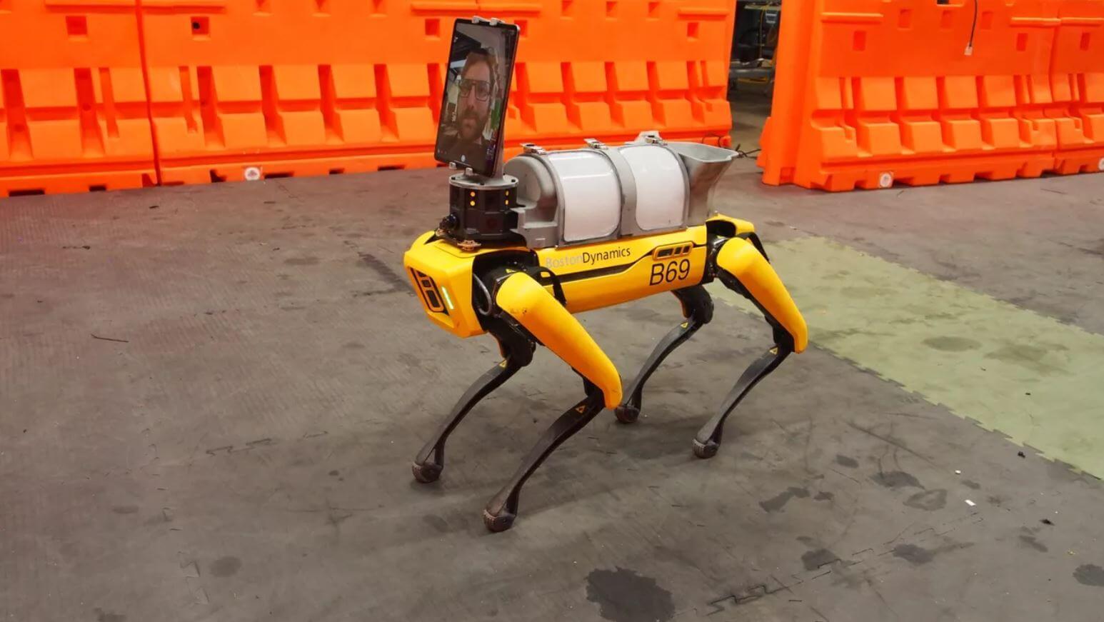 boston dynamics spot robotic dog covid 19 telemedicine