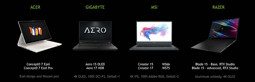 nvidia rtx super laptops lineup