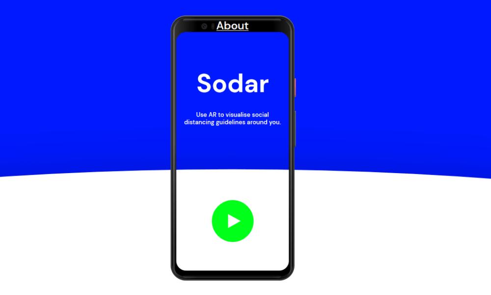 google sodar social distancing tool ar