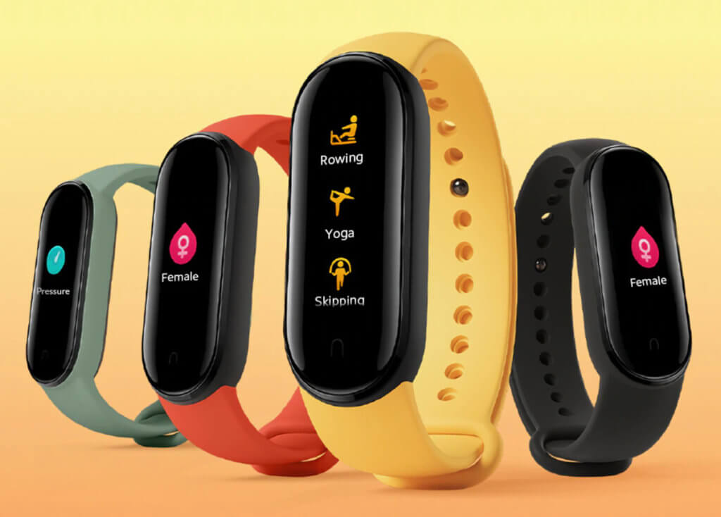 Xiaomi-Mi-Band-5 faces and colors