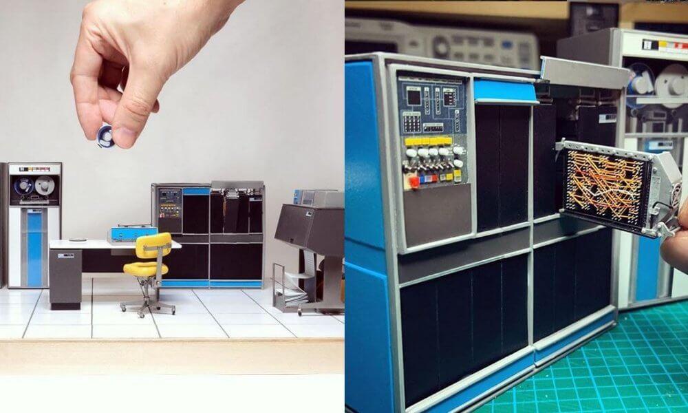 nicolas temese ibm 1401 mainframe miniature computer retro