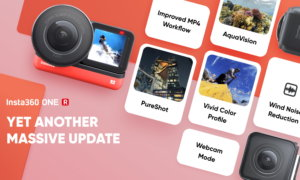 Insta360 ONE R Update pureshot webcam action camera
