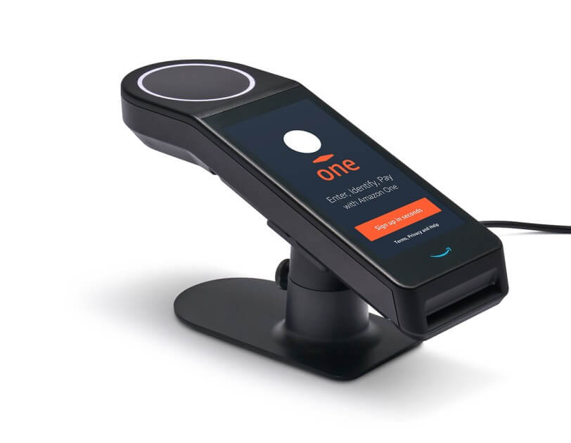 amazon one hand scanner hand payments