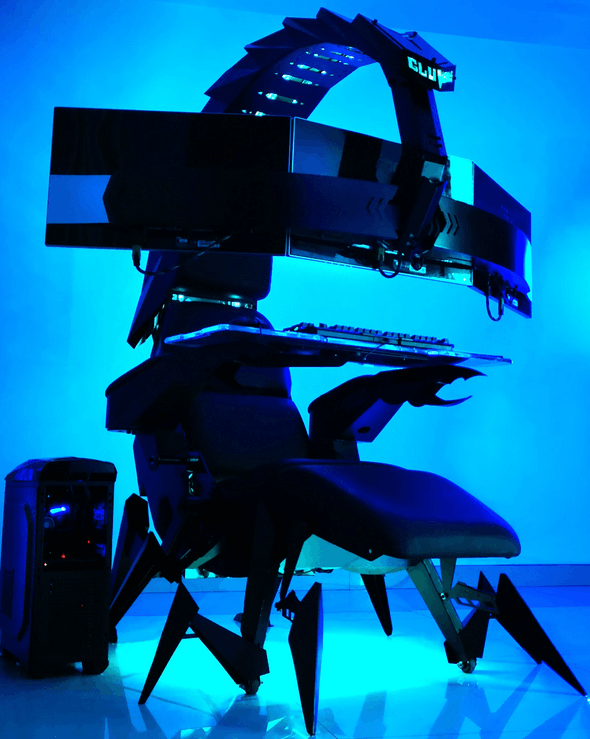 The Ultimate Workstation Or Extra Creepy Check Out The Cluvens Scorpion Gaming Chair
