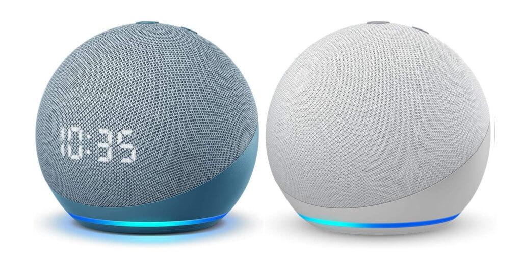 echo dot with clock 4th gen blue