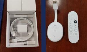 google chromecast google tv dongle leak remote box