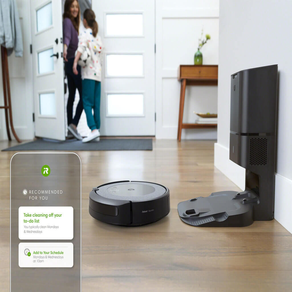 iroomba i3 plus self-cleaning dock and scheduled cleaning