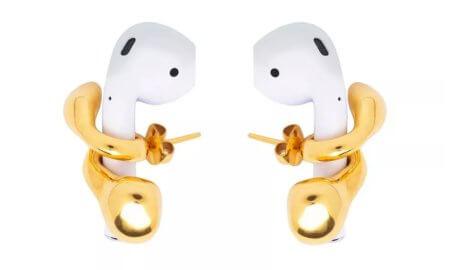 airpods earrings gold
