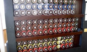 working rebuilt bombe at Bletchley Park turing enigma machine