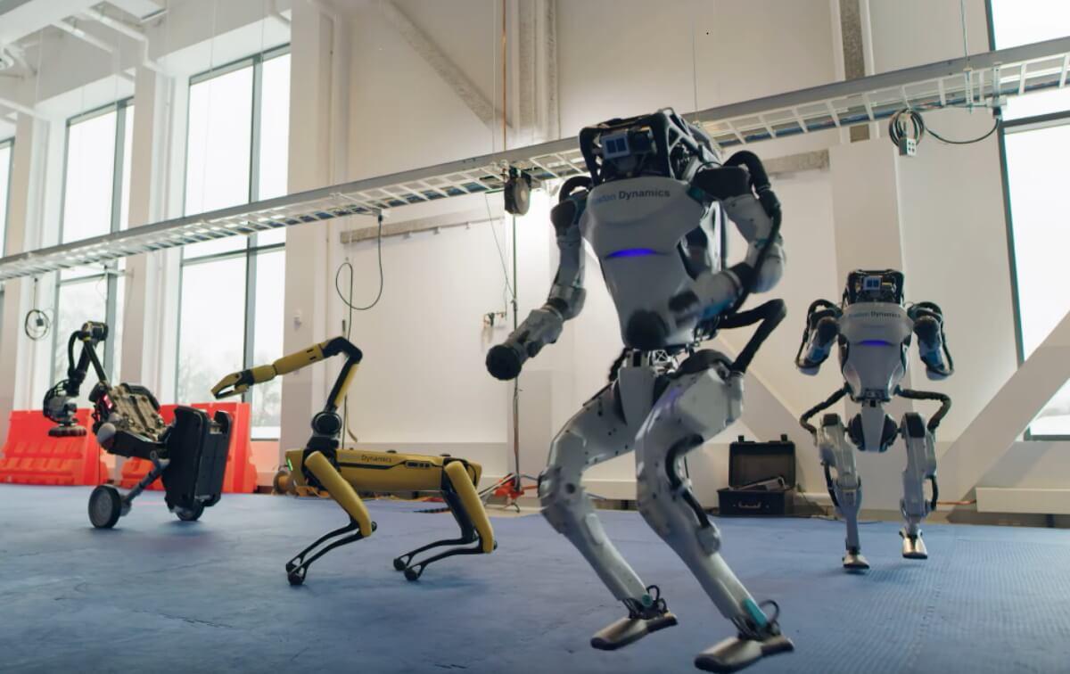 boston dynamics robots dance