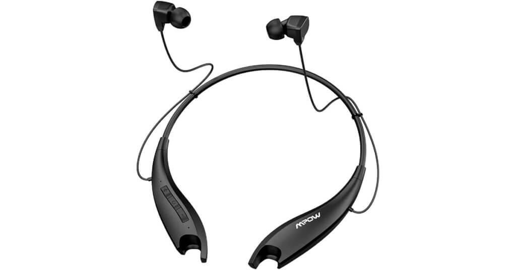 mpow jaws bluetooth headphones with neckband