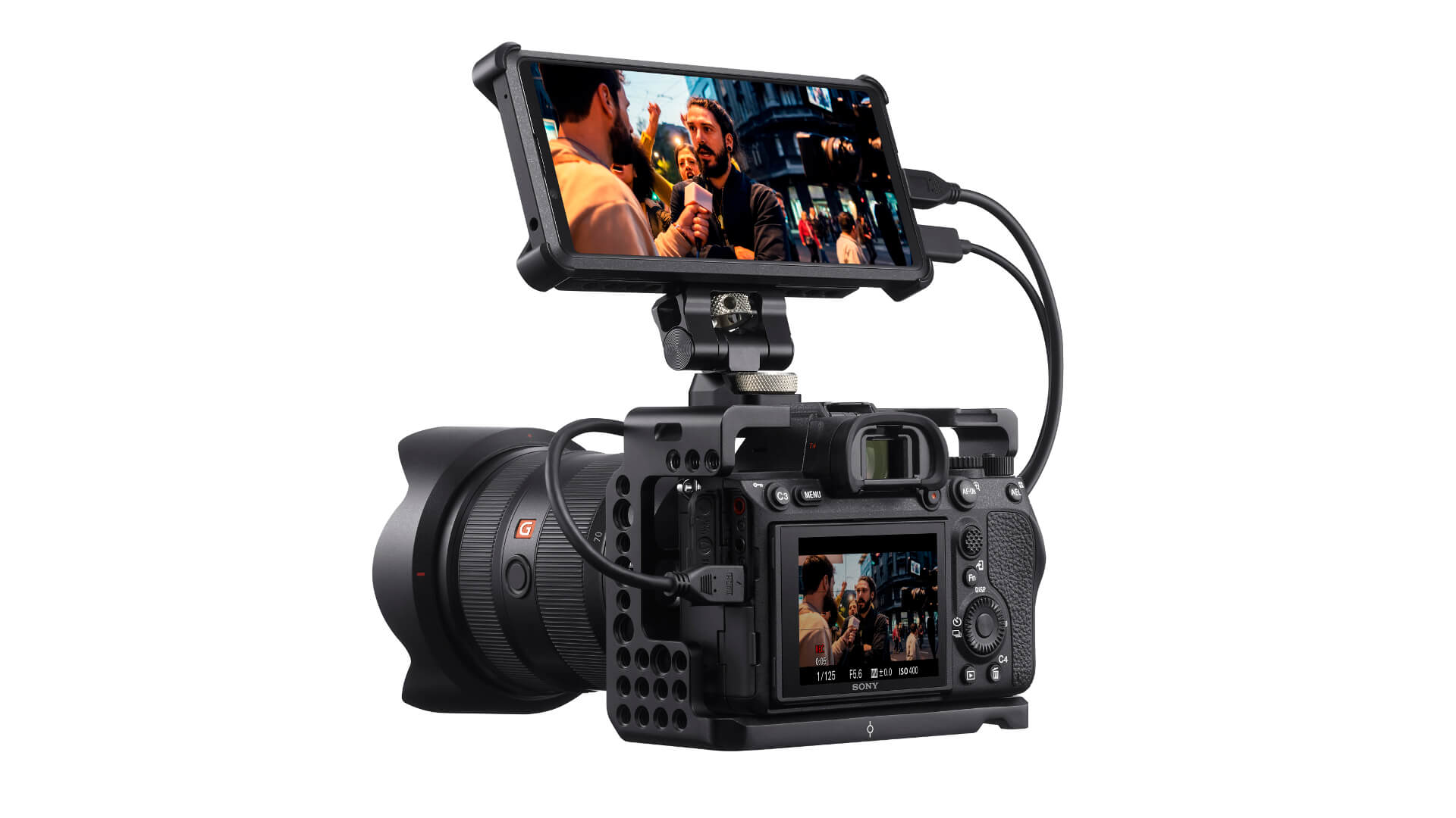 sony xperia pro sony a1 mounted