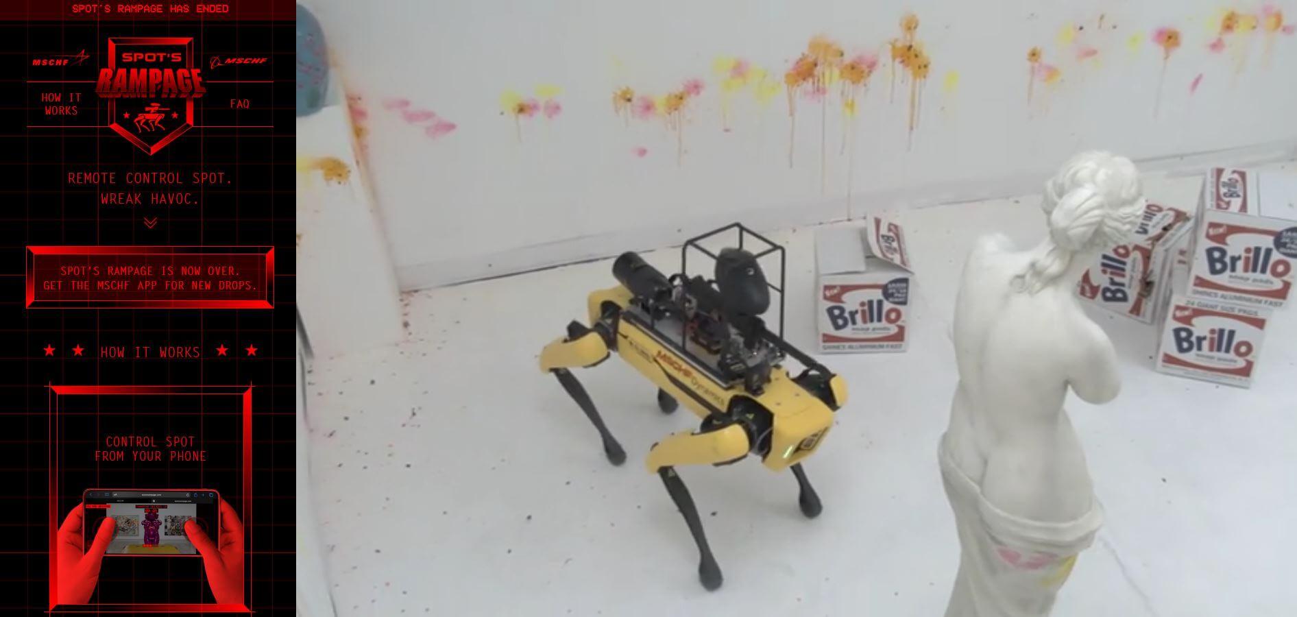 boston dynamics spot robotic dog rampage website