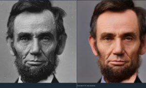 time travel rephotography abraham lincoln