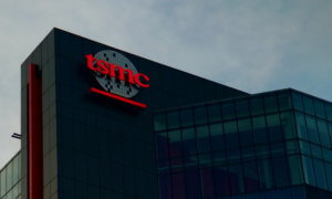 tsmc logo on building