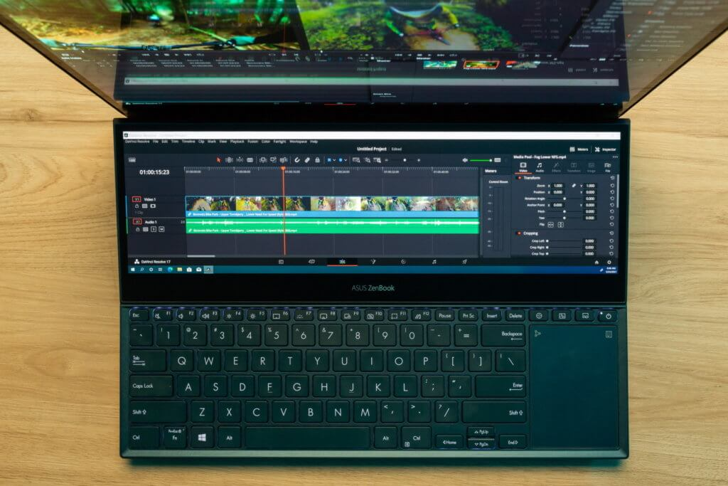 Asus ZenBook Pro Duo 15 video editing