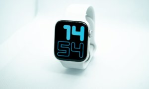 white apple watch