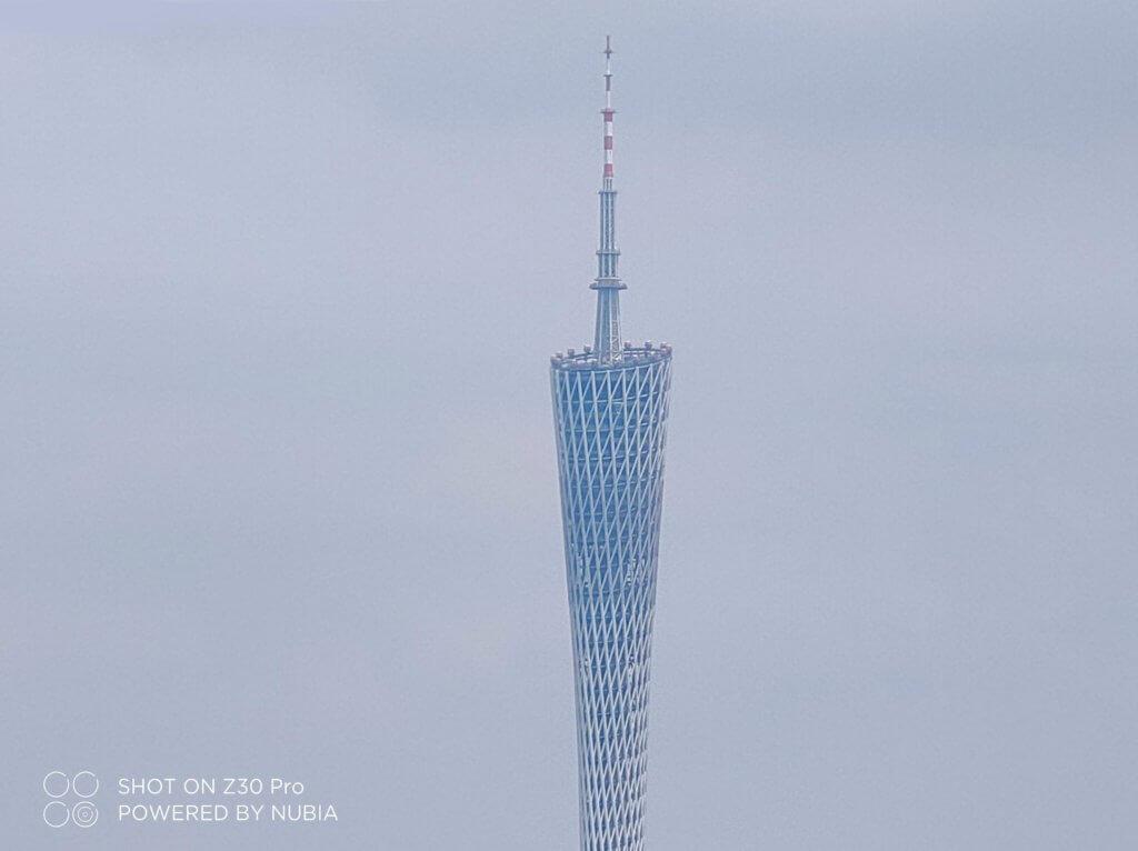 nubia z30 pro building zoomed in