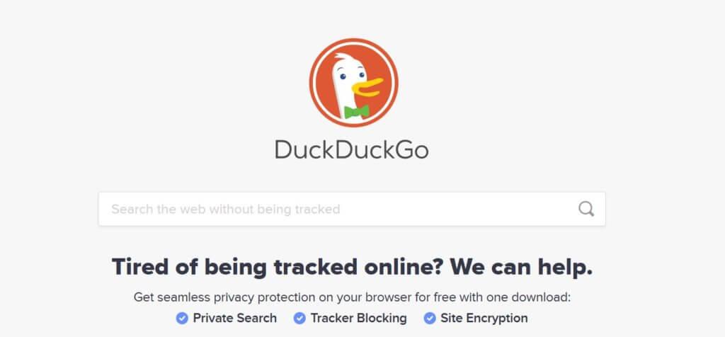 DuckDuckGo search