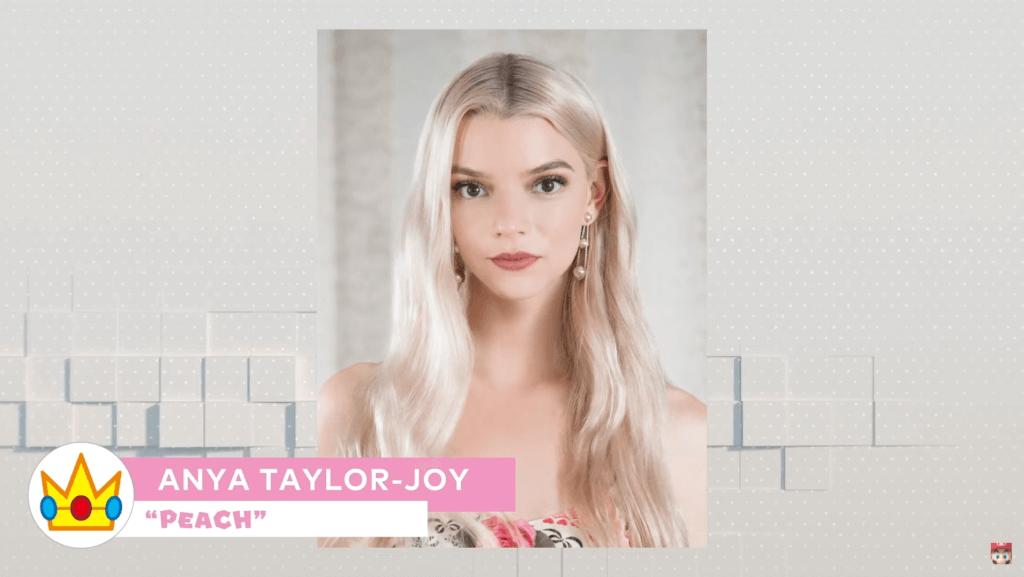 anya taylor joy as princess peach in mario movie