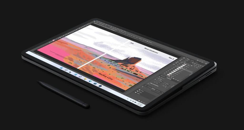 surface laptop studio tablet mode